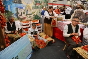 Tomato growers at theSlow Food Festival in Italy